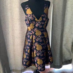 TOPSHOP Beautiful Brocade Cocktail Dress